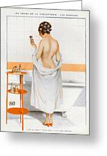 La Vie Parisienne  1916 1910s France Cc Greeting Card by The Advertising Archives