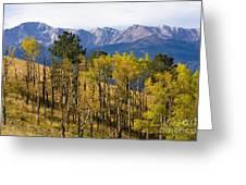 Rocky Mountain Autumn Greeting Card