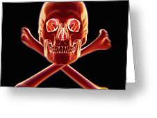 Skull And Crossbones Greeting Card