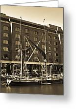 St Katherine's Dock London Greeting Card