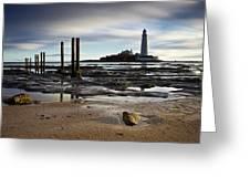 St Marys Lighthouse Greeting Card