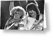 Van Halen - Sammy Hagar With Eddie Van Halen Greeting Card