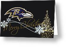 Baltimore Ravens Greeting Card by Joe Hamilton