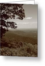 Blue Ridge Mountains - Virginia Sepia 9 Greeting Card