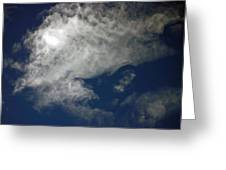 Cloaked Craft Cloud Photograph Greeting Card