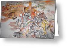Going To Siena For Il Palio Album  Greeting Card