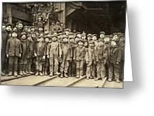 Hine Child Labor, 1911 Greeting Card