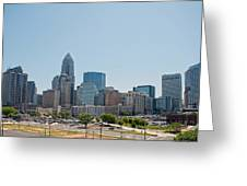 Skyline Of Uptown Charlotte North Carolina  Greeting Card