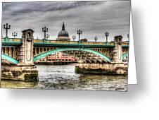 Southwark Bridge London Greeting Card