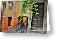 Tight Alley Greeting Card