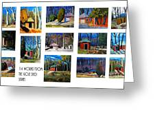 14 Works From The Golf Shed Series Greeting Card by Charlie Spear