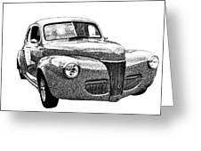 1941 Ford Coupe Greeting Card