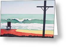 14th Street Huntington Beach Greeting Card