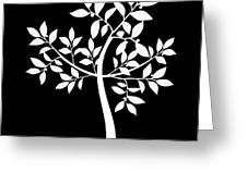 Art Tree Silhouette Greeting Card