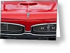 1967 Pontiac Gto Grille Emblem Greeting Card