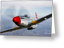 A P-51d Mustang In Flight Greeting Card