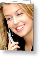 Businesswoman. Greeting Card