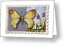 15 Cent Butterfly Stamp Greeting Card