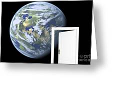 Door To New World Greeting Card