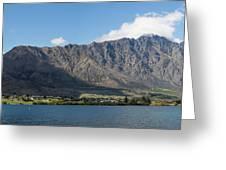 Lake With Mountain Range Greeting Card