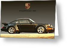 Porsche 911 3.2 Carrera 964 Turbo Greeting Card
