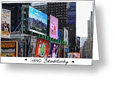 1540 Broadway Greeting Card