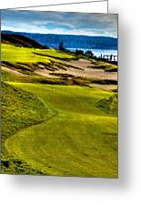 #16 At Chambers Bay Golf Course - Location Of The 2015 U.s. Open Tournament Greeting Card