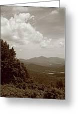 Blue Ridge Mountains - Virginia Sepia 7 Greeting Card