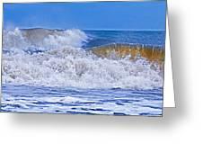 Hurricane Storm Waves Greeting Card