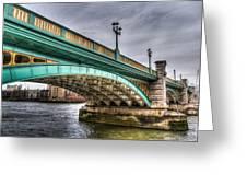 Southwark Bridge London Greeting Card