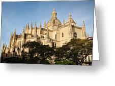 Spain, Castilla Y Leon Region, Segovia Greeting Card