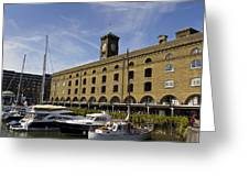 St Katherines Dock London Greeting Card