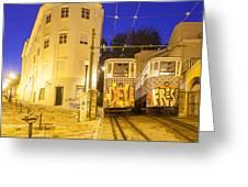 The Lavra Funicular Greeting Card