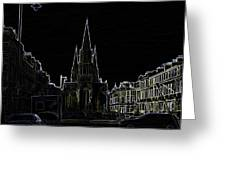 View Of Episcopal Cathedral In Edinburgh Greeting Card