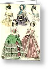 Women's Fashion, 1842 Greeting Card