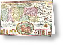 1632 Tirinus Map Of The Holy Land Israel W Numerous Insetsgeographicus Holyland Tirinus 1632 Greeting Card