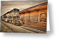Locomotive 1637 Norfork Southern Greeting Card