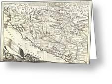 1690 Coronelli Map Of Montenegro Greeting Card