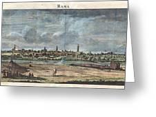 1698 De Bruijin View Of Rama Israel Palestine Holy Land Greeting Card