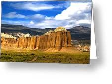Capitol Reef National  Park Cathedral Valley Greeting Card