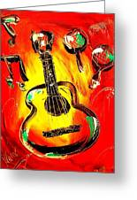 Guitar Greeting Card by Mark Kazav