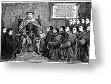 Henry Viii (1491-1547) Greeting Card
