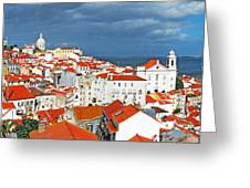 Lisbon Cityscape Greeting Card
