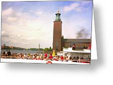 Stockholm Canal Tour Greeting Card