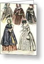 Women's Fashion, 1842 Greeting Card