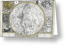 1700 Celestial Planisphere Greeting Card