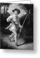 1700s 1770s A Morgans Rifleman Wearing Greeting Card