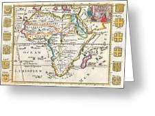 1710 De La Feuille Map Of Africa Greeting Card