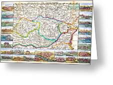 1710 De La Feuille Map Of Transylvania And Moldova Greeting Card