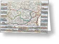 1710 De La Feuille Map Of Transylvania  Moldova Greeting Card